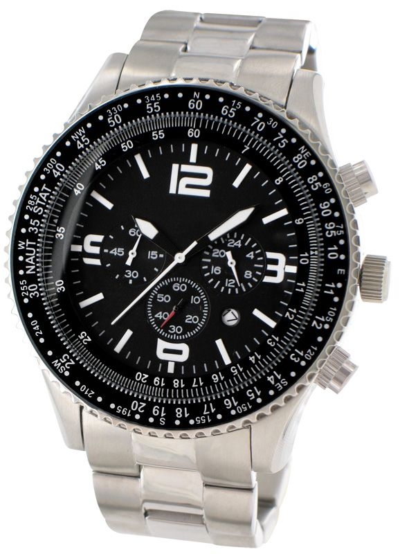 Sphere Time - Stainless steel chronograph watch